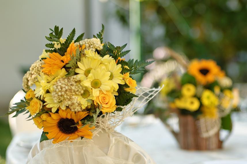 Buchet De Mireasa Cu Floarea Soarelui Atelierul De Flori Timisoara