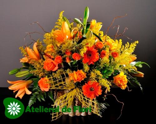 Cos cu flori de vara2