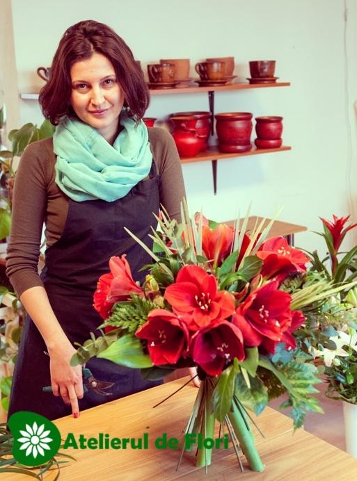 Buchet de flori spirala atelierul de flori