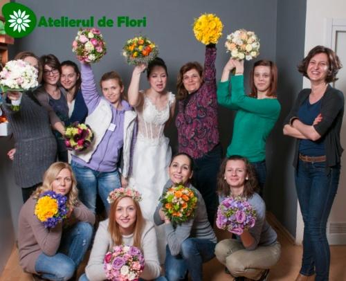Anca Vlad atelierul de flori Timisoara curs martie 2014