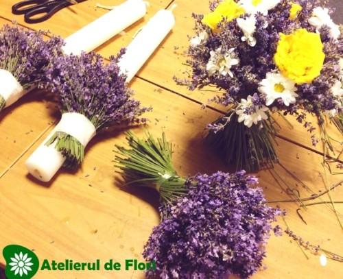 aranjamente florale cu lavanda