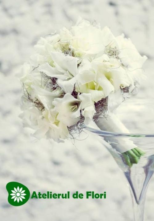 Buchet de mireasa cu gladiole