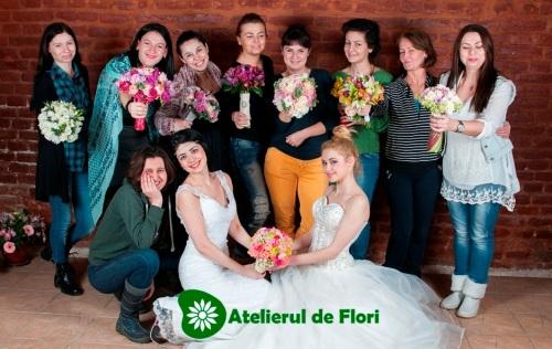 Grupa curs aranjamente florale ianuarie 2015