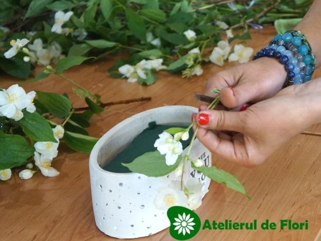 taierea cu cutitul flori taiate