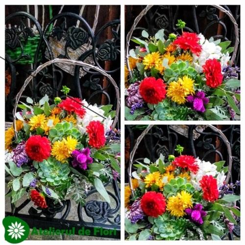 Cosulet cu flori de toamna