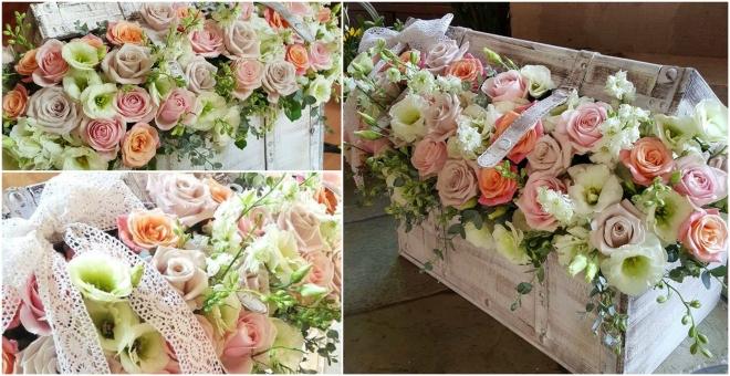 Cufar cu flori pastel
