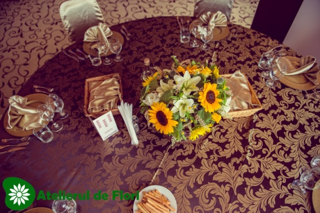 Aranjament rotund mese nunta