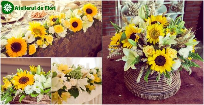 Aranjamente Florale Cu Floarea Soarelui Atelierul De Flori Timisoara