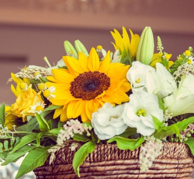 Floarea soarelui aranjamente nunta