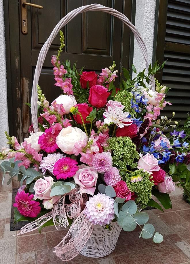 Cos cu flori nunta