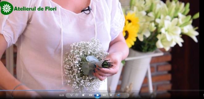 Cum fac un buchet de floarea miresei2